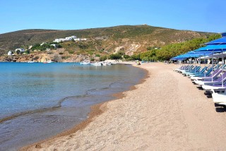 groikos beach golden sun sandy coast