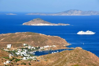 patmos golden sun amazing view