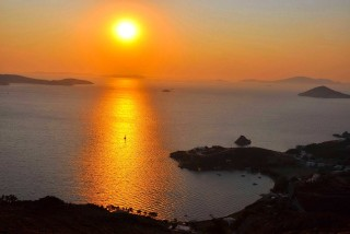 patmos golden sun sunset